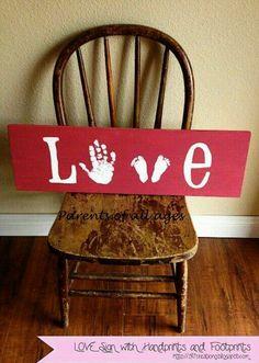 Kids handprint and footprint
