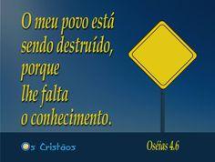 #conhecimento #oscristaos