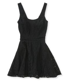 Tie-Back Floral Lace Dress from Aeropostale