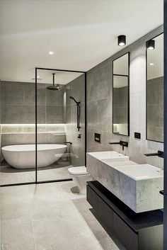 Brookville Road Residences by Megowan Architectural - Bathroom - Bathroom Decor Bathroom Design Luxury, Home Interior Design, Bath Design, Dream Bathrooms, Amazing Bathrooms, Master Bathrooms, Luxury Bathrooms, Small Bathrooms, Bathroom Layout
