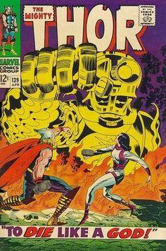 Thor 139. Por Jack Kirby. #JackKirby #Thor