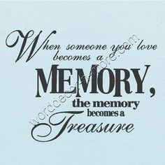I have many treasures in my heart.  I am so rich!