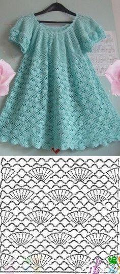 Crochet Baby Dress Pattern, Crochet Jumper, Crochet Doily Patterns, Baby Girl Crochet, Crochet Baby Clothes, Crochet Blouse, Baby Knitting Patterns, Crochet Shawl, Crochet Designs