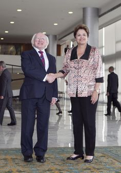 Irish President Michael D Higgins with President H.E Dilma Rousseff , President of the Federative Republic of Brazil during his official visit to the country in October Science And Technology, Brazil, Presidents, Irish, October, Country, Irish Language, Rural Area, Country Music