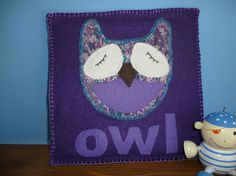 OWL wall hanging ideal for a tranquil nursery Hand by MummyHughesy, $9.00