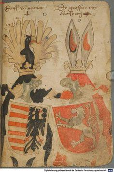 Ortenburger Wappenbuch Bayern, 1466 - 1473 Cod.icon. 308 u  Folio 66r