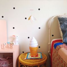 This is Maisy's gorgeous bedroom styled by her very stylish and talented mum Sam. we spy #icecreamlamp and some #sonnyangel they got from us at http://leoandbella.com.au. We also stock those  night light. Head over to see her style and check out Maisydee online shop.