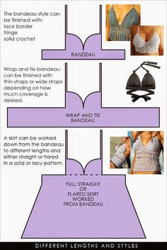 "From a bikini bra to a bandeau, wrap bandeau or ""tankini"" top 