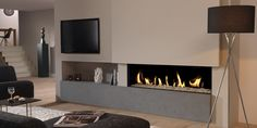 Hole in the Wall Gas Fires Surrey, Hole In Wall Fires London, Grate Expectations Modern Fireplace, Fireplace Design, Gas Fireplace, Contemporary Gas Fires, Contemporary Decor, Glass Fronted Gas Fire, Wall Gas Fires, Fireplace Inserts, Piece A Vivre