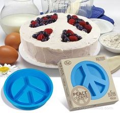 Peace sign cake pan!!! This will be in my possession at some point in the near future....