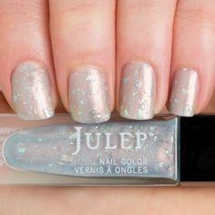 Luna - Light Blue Duochrome with Jagged Cut Glitter Nail Polish