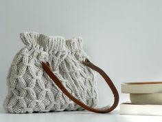 Bag NzLbags Beige-Ecru Knitted Bag Handbag Shoulder by NzLbags. Just for inspiration, no pattern.