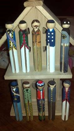 "Handpainted ""Clothespin People"" CUSTOM"