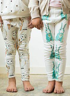 Salt City Emporium childrens leggings: printed owls and rabbits. Fashion Mode, Look Fashion, Kids Fashion, Kids Outfits, Cute Outfits, Shorty, Little Girl Fashion, Stylish Kids, Kid Styles
