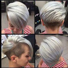 Zit jij er aan te denken om jouw haar eens een keer grijs te verven? Bekijk dan snel deze super gave korte kapsels in de mooiste grijs tinten! - Kapsels voor haar