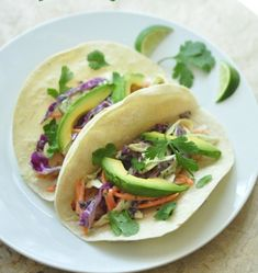 Grilled Fish Tacos with Cabbage citrus slaw