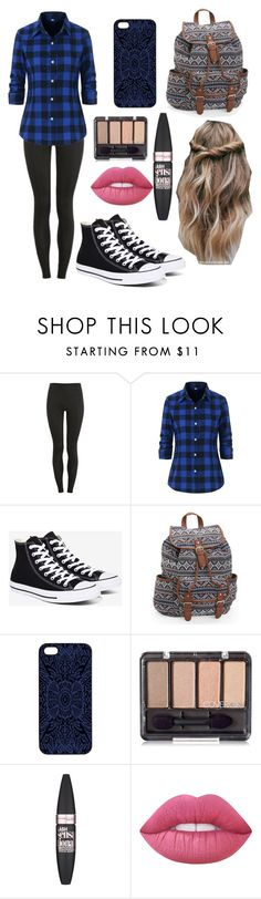 """""""Back to School"""" by lfrye2080 ❤ liked on Polyvore featuring Proskins, Converse, Aéropostale, Samantha Warren London, Maybelline and Lime Crime"""
