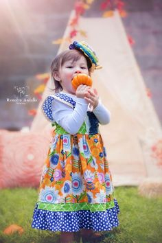 Autumn Meadow-flowers, fall, floral, polkadots, layer, gooseberry lane, dress up, party, ruffles, grow with me