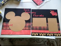 I created this page using Roxie paper and my Micky and Friends Cricut Cartridge plus my Fantastic CTMH Art Philosophy cartridge