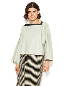 Leather Boatneck Top by Marni at Gilt