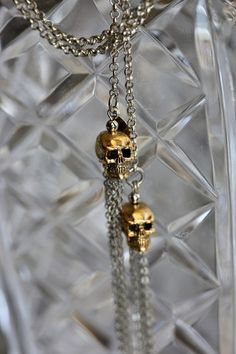 Pewter, Skull, Chain, Gold, Accessories, Jewelry, Tin, Jewlery, Jewerly