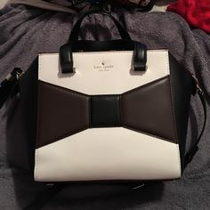 Like new Kate Spade Snall Beau 2 Park Avenue Bag! Only used 3 times! Still have the tags inside the bag, this bag is stunning! The color Storm. Has 3 small marks on the back, shown in the last picture, which I am sure can be removed with leather cleaner. Gorgeous and VERY roomy! Sturdy leather and sturdy bag! Dust bag included! kate spade Bags Satchels