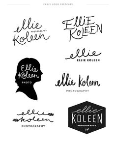 Logo Sketches for a wedding photographer - June Letters Studio