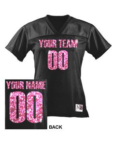 CUSTOM Women's Football Jersey ANY Color by CrossbowGraphics. I want this for next football season! Football Mom Shirts, Football Cheer, Cheer Shirts, Team Shirts, Football Jerseys, Sports Shirts, Football Moms, Football Boyfriend, Football Mom Jersey