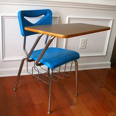 School Desk Storage and Chair.