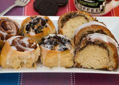 Cinnamon Rolls, Oreo Breakfast Buns, and Apple Coffee Cake.