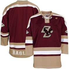 Boston College Eagles Maroon Hockey Jersey