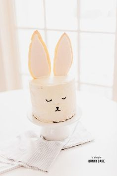 Adorable bunny cake.