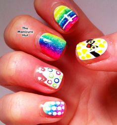 Psychedelic Easter Egg Nail Art