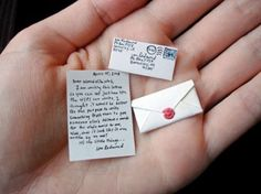 I am pinning this so that I remember to have the tooth fairy leave tiny notes for my kids... :)