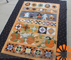 Halloween Saturday Sampler quilt by Maryann, quilted by Natalia at Piece 'n Quilt.  From a 2012 pattern by American Quilting.