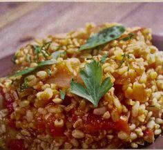 Ριζότο με πλιγούρι και αποξηραμένα βερίκοκα (3 μονάδες) – Η δίαιτα των μονάδων Chana Masala, Grains, Rice, Ethnic Recipes, Food, Essen, Meals, Seeds, Yemek