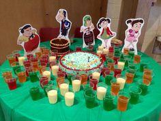 El Chavo del Ocho Party - cake and jello cups