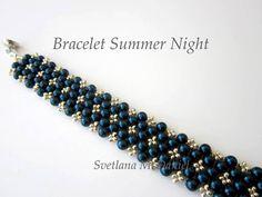 PDF Tutorial beaded bracelet Summer Night beading by BeadsMadness