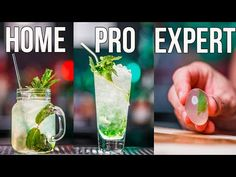 How to Make a Mojito Cocktail Home | Pro | Expert - YouTube Voss Bottle, Water Bottle, Alcoholic Drinks, Cocktails, Mojito Cocktail, Drinking Water, The Creator, Youtube, Awesome Food