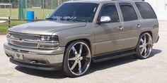 2000 Chevy Tahoe on 28 Inch u2 55s - Big Rims - Custom Wheels