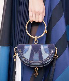 "Chloé (@chloe)  ""Shades of blue – the new Nile bag is this season's statement accessory #chloeGIRLS"""