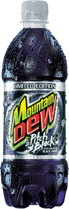 "Definitely my favorite ""DEW"" drink! Mtn Dew Pitch Black, Mnt Dew, Mountain Dew, Black Mountain, Cola Wars, Wonder Twins, My Favorite Food, My Favorite Things, Kid Drinks"