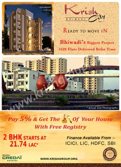 Pay only 5% and get the key of your Ready to Move Home with free Registry Limited Period Offer. Buy 2BHK & 3BHK Ready to Move Flats On Alwar Bypass Road, Bhiwadi, Rajasthan. Also, Chance To Win a Car : Move In Before 31st Dec and Get a Coupon to Participate in Lucky Draw.(Scheme Applicable for Tenants Also) *T&C Apply.