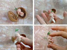 Celidonia Studio - Sprouting Walnut Elf Fairy