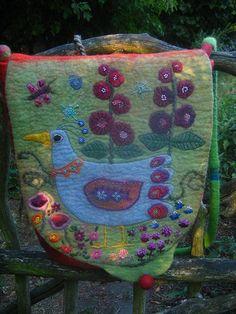 Untitled felted wool and embellished bag by Baba Yaga 1. Posted on Flocks&Klacks' favorite photos/flickr
