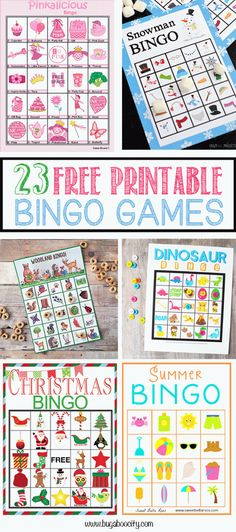 23-free-printable-bingo-games-round-up
