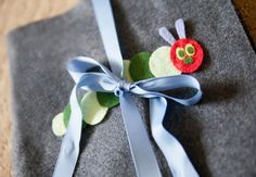 DIY Very Hungry Caterpillar Felt Book by lavendersblue: Make a felt version of The Very Hungry Caterpillar that includes felt pieces of all the fruits and junk foods the caterpillar ate. Free template! #DIY #Very_Hungry_Caterpillar_Book