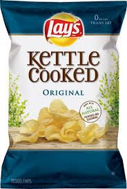 Lays Salt and Vinegar Kettle Cooked Potato Chip. Chips are my weakness and most any kind is fine. The kettle cooked are the best. Kettle Chips, Kettle Cooked Chips, Potato Chip Flavors, Lays Potato Chips, Ranch Potatoes, Chips Brands, How To Cook Potatoes, Yummy Treats, Eau De Toilette