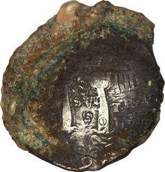 1652 coin. sunken treasure