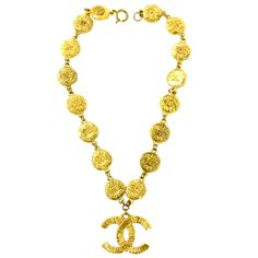 1stdibs | Vintage Chanel Necklace with Chanel Logo